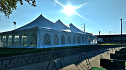 A tented event on the Upper Deck