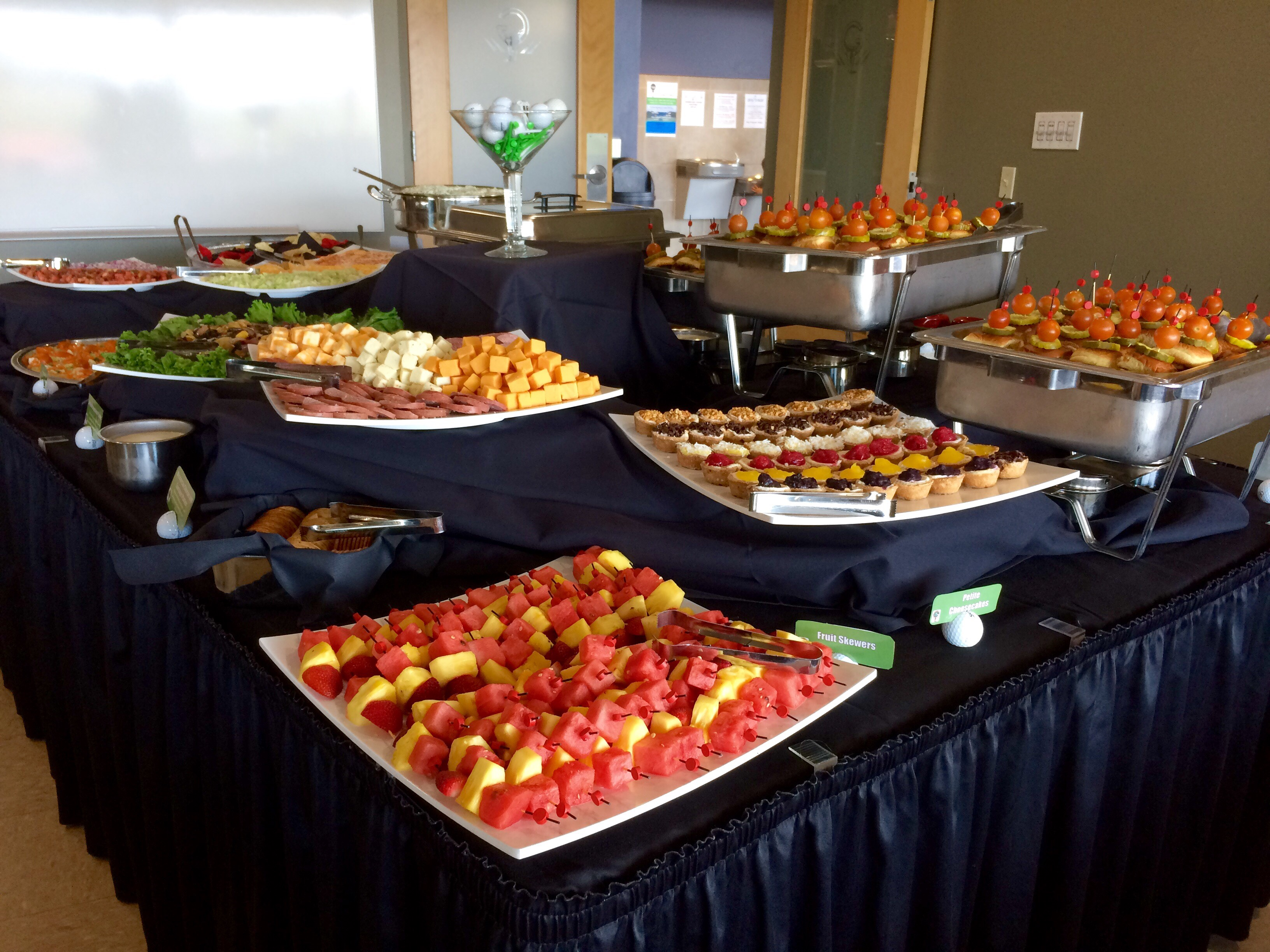 Buffet in the Community Room
