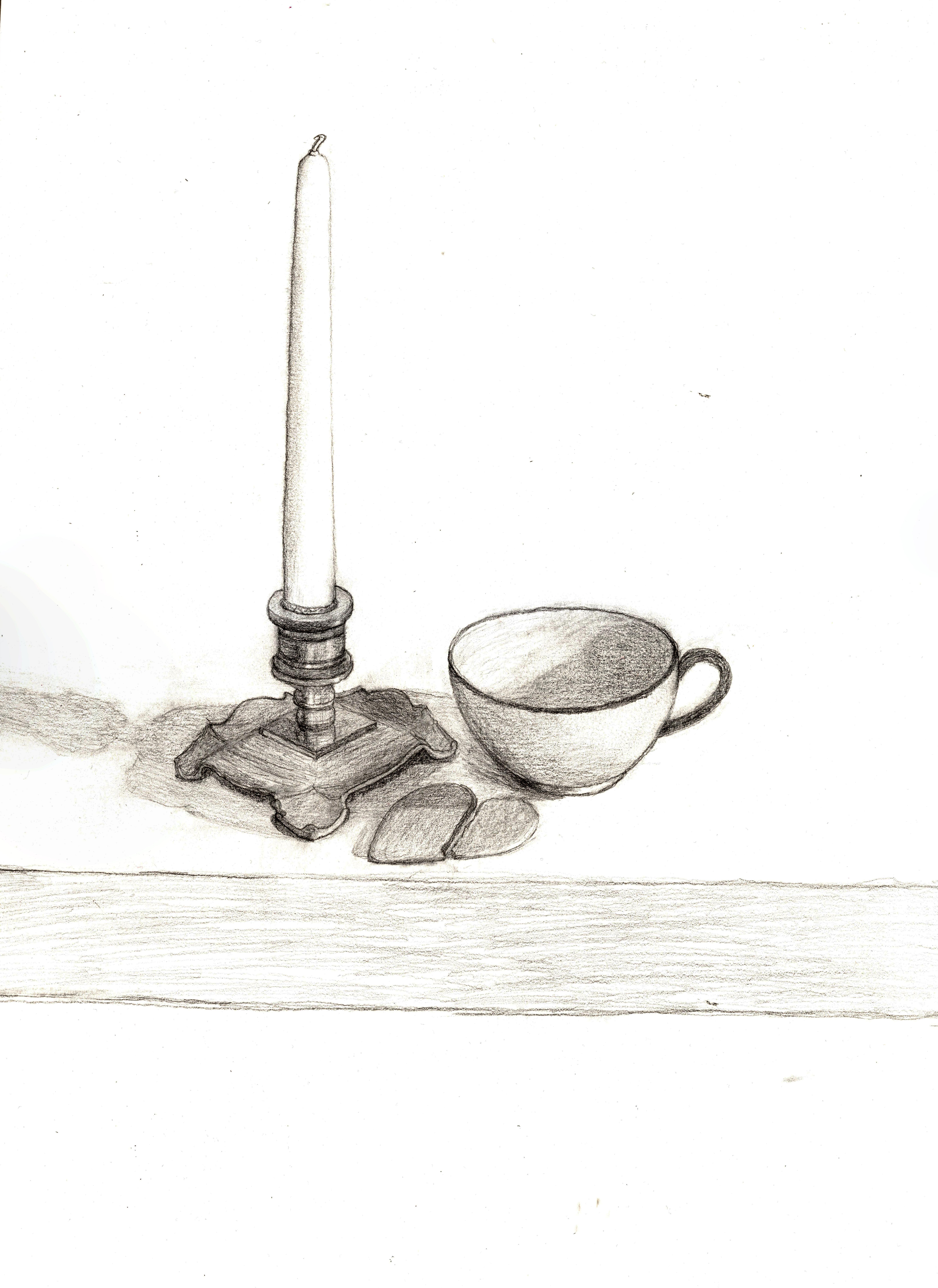 Ljus, kopp och pepparkaka Stileven