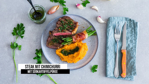 Steak mit Chimichurri