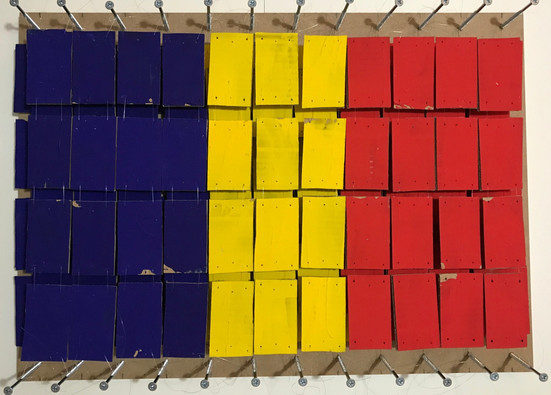 Blue, Yellow and Red, 2018