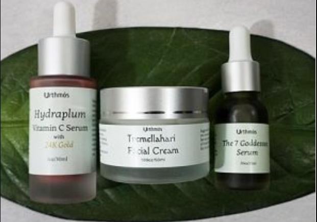 Tremellahari Face Cream, 7 Goddesses Serum, Hydraplum Vitamin C Serum