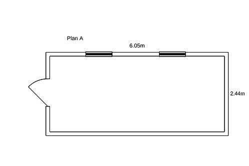 PLAN A - Container de bureau 20' ISO