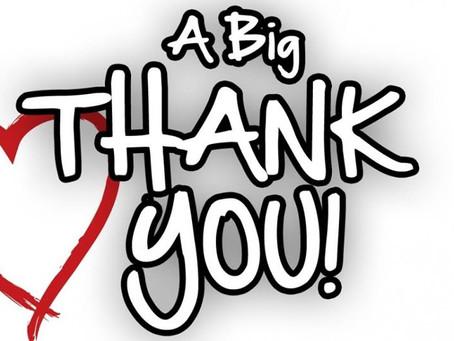 A BIG THANK YOU!!!