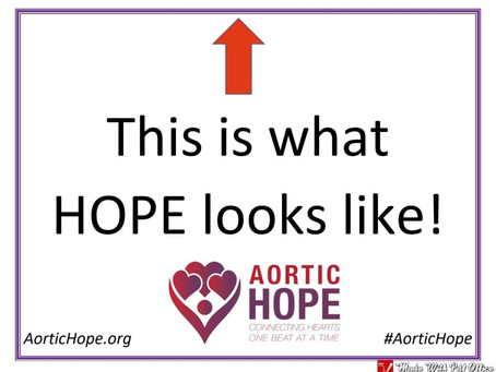 It's Signage Sunday and Aortic Disease Awareness Month!