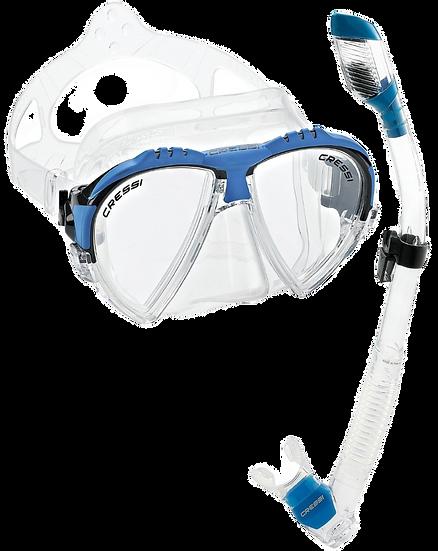 Cressi Matrix Mask and Supernova Dry Snorkel Combo