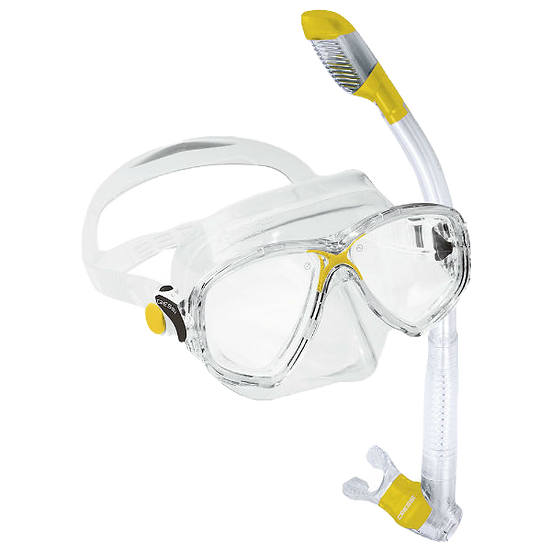 Cressi Marea Mask and Supernova Dry Snorkel Combo