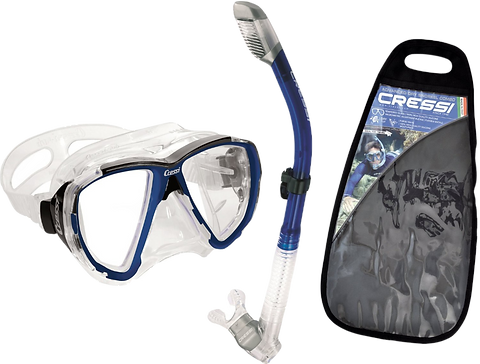Cressi Big Eyes Mask and Supernova Dry Snorkel Combo