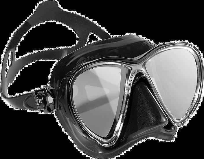 Cressi Big Eyes Evolution Mask Black/Black (Mirrored Lenses)