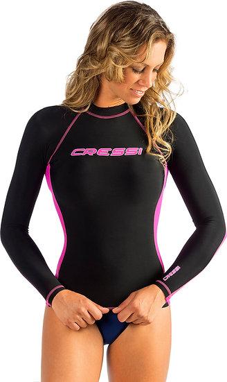 Cressi Long Sleeve Rash Guard - Black and Pink Ladies