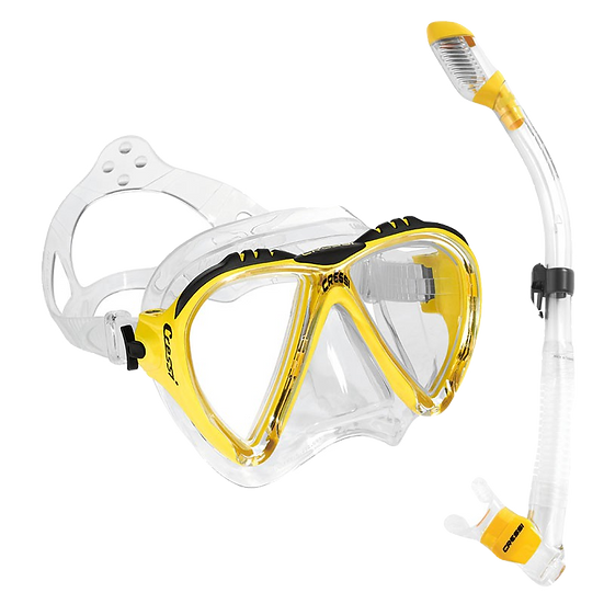 Cressi Lince Mask and Supernova Dry Snorkel Combo