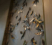 drift jinggoy buensuceso high street lounge wall mural shangri-la at the fort, shang bgc, artwork, function room, narra, mango, chestnut, leaves, 2016, native, wall, decoration,