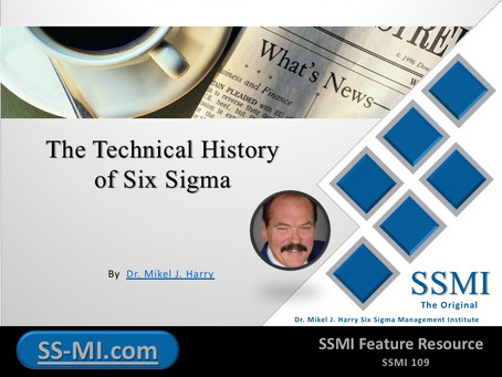The Technical History of Six Sigma
