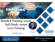 Blended Training versus Self-Study versus Live Training