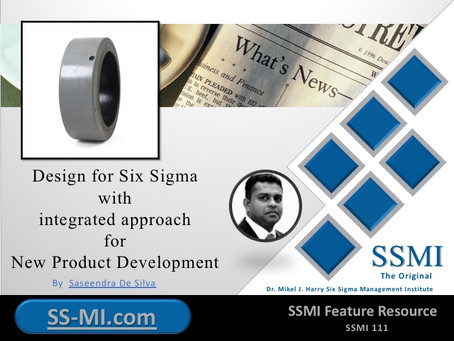 Design for Six Sigma with integrated approach for New Product Development