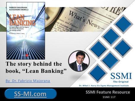 "The story behind the book, ""Lean Banking"""