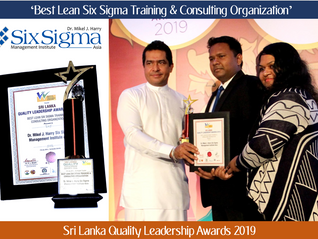 SSMI Asia recognized as the 'Best Lean Six Sigma Training & Consulting organization' at the Sri
