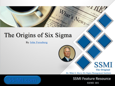The Origins of Six Sigma*