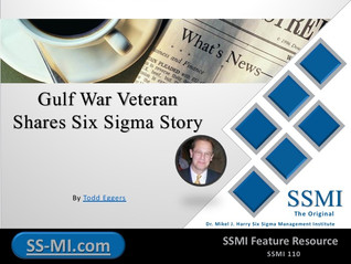 Gulf War Veteran Shares Six Sigma Story