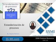Estandarización de procesos