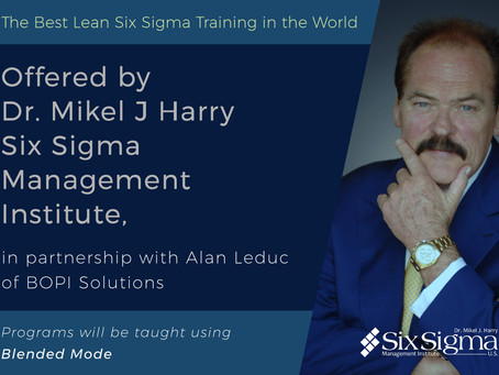 SSMI U.S. to Commence Lean Six Sigma Blended Training
