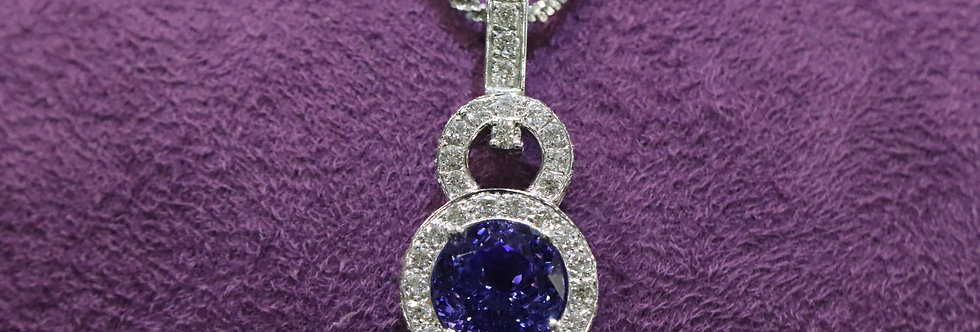 Secondhand Tanzanite & Diamond Pendent