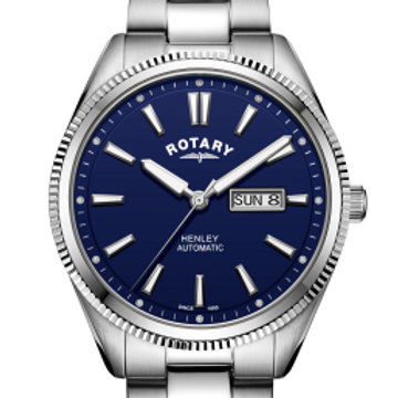 Rotary Gents White Bracelet Serrated Bezel Henley