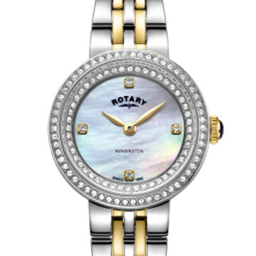 Rotary Two Tone Gold Kensington Ladies