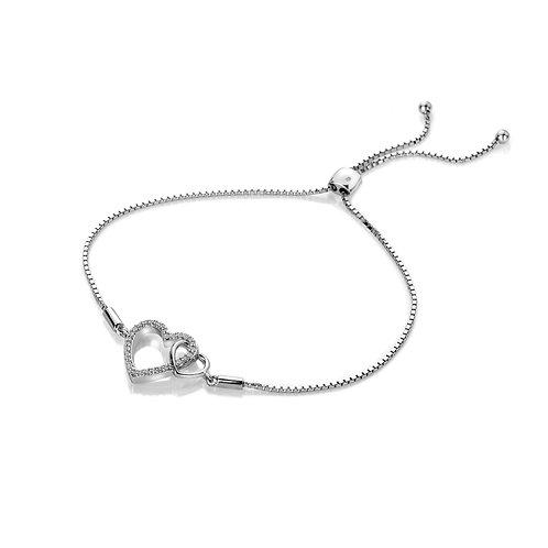 Togetherness Open Heart Bracelet