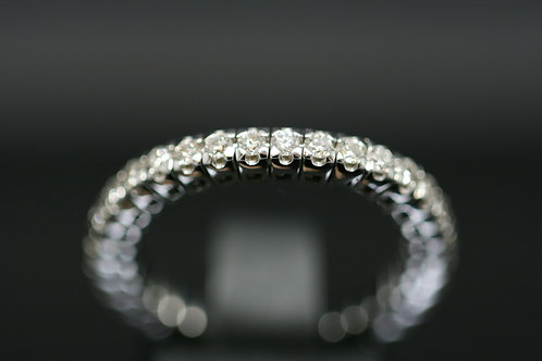 18ct White Gold Diamond Flexi Stretch Ring