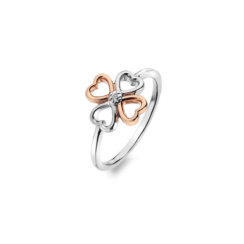Lucky in Love Ring - Rose Gold Plate Accents-S
