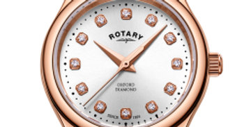 Rotary Rose Gold Oxford Diamonds Ladies