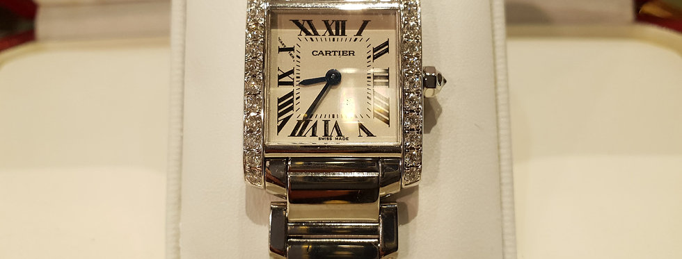 Cartier Tank Francaise with Diamonds