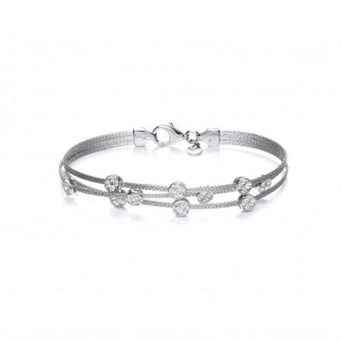 Silver and CZ Galaxy bracelet