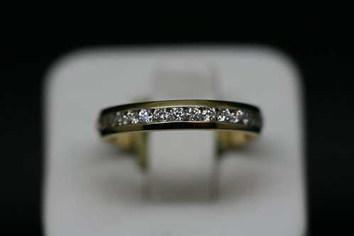 18ct Yellow Gold and Diamond Half Eternity Ring