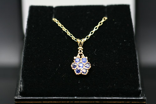 Solid Gold and Sapphire Pendent