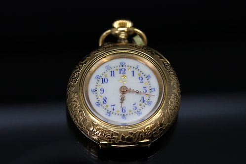 18ct Victorian Ladies Pocket Watch