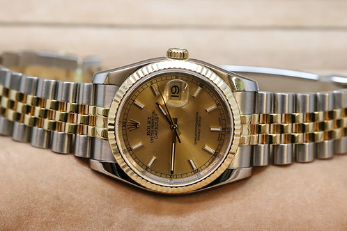 Rolex Datejust 18ct and Steel