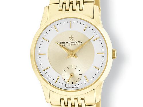 Swiss Mens Gold PVD Stainless Steel Quartz Watch