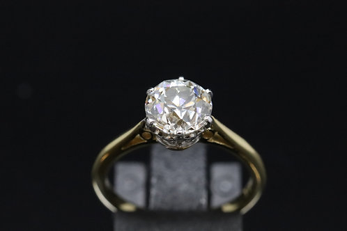 18ct Yellow Gold 2ct Diamond Solitaire