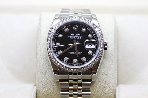 Rolex Datejust Diamond Dot DiamondBezel