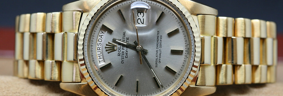 18ct Gold Rolex Day-Date On President Bracelet