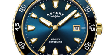 Rotary Two Tone Gold Henley Gents