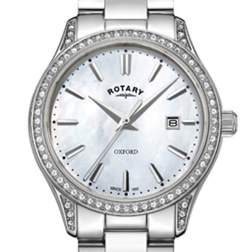 Rotary Oxford White Stainless Steel Quartz Watch