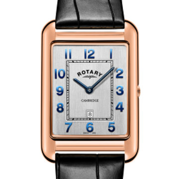 Rotary Gents Rose Gold PVD Strap Cambridge