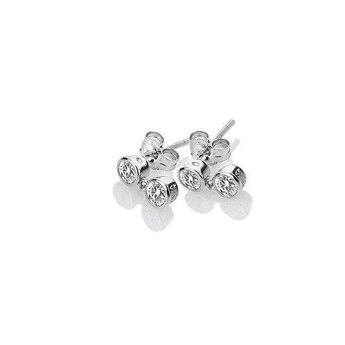 Tender White Topaz Earrings - Double Drop