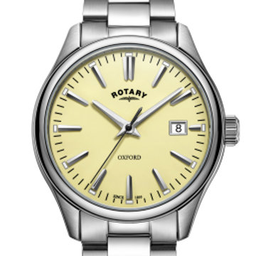 Rotary Oxford Cream Stainless Steel Quartz Watch