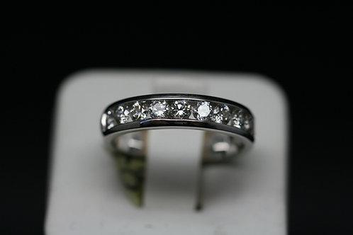 18ct White Gold and Diamond Half Eternity Ring