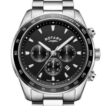 Rotary Black Henley Gents Chronograph Quartz