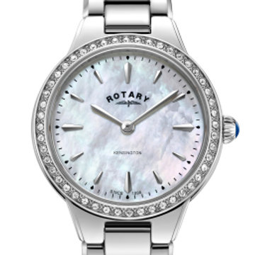 Rotary White Kensington Ladies Quartz